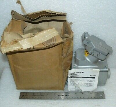 """Crouse Hinds Enr21201 Ark-Gard 30A Delayed Action Circuit Receptacle 3/4"""" New"""