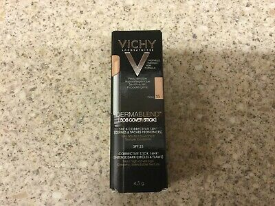 Vichy DermaBlend SOS Corrective Cover Stick 16Hr Very High Coverage OPAL 15 New
