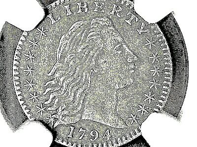 1794 H10c NGC AU50 - only 9 known to exist