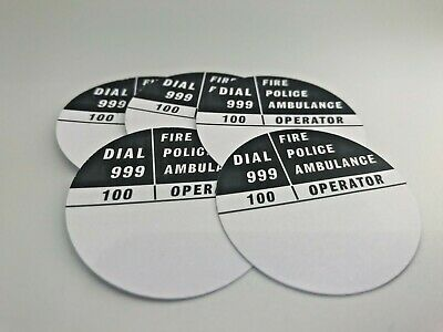 5 x GPO 706 GREY//WHITE ROTARY TELEPHONE DIAL NUMBER CARD INSERTS