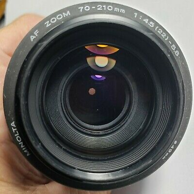 MINOLTA AF Zoom 70-210mm 1/4.5-5.6  MACRO Lens made in Japan used mint condition