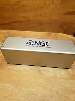 NGC 20 Slab Coin Holder Silver & Blue Plastic Storage Box Case Container