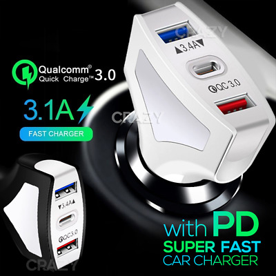 PD USB Type C Fast Chaging Car Charger Apple iPhone 11 Pro Max XS X XR 7 8 Plus