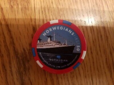Norwegian Cruise Lines NCL Escape 50th Anniversary $5 Poker Chip