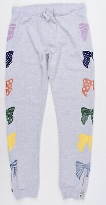STELLA MCCARTNEY Girls' Kids' ZOEY Bow Print Joggers, Grey, size 14 years