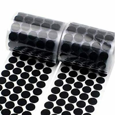 Hook & Loop Sticky Self Adhesive Dots Coins Circles Tape 10 15 20 25 30mm Black