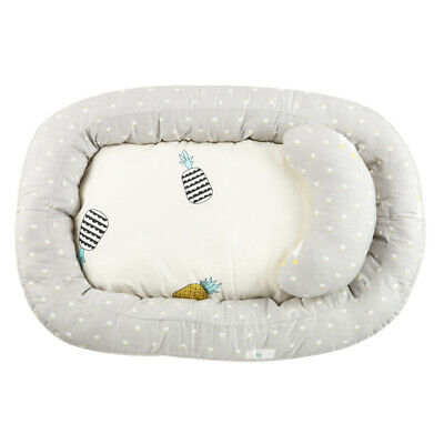 Infant Newborn Baby Bassinet Bed Portable Soft Lounger Crib Sleep Nest w/Pillow