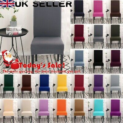 Newest Stretch Dining Chair Covers Slipcovers Removable Chair Protective Cover