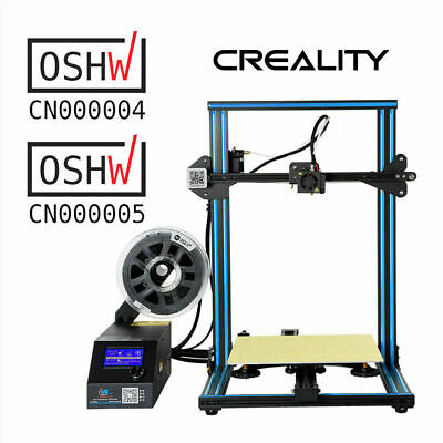 New Offical Creality CR-10 3D Printer 300X300X400mm Monitor Heated bed Upgrade