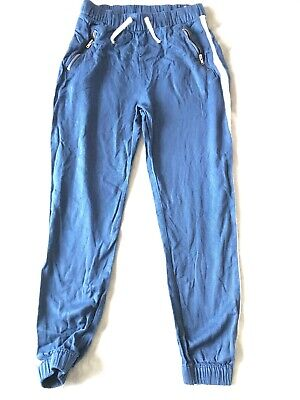 Girls Navy Blue H&m Tracksuit Bottoms 9-10 years