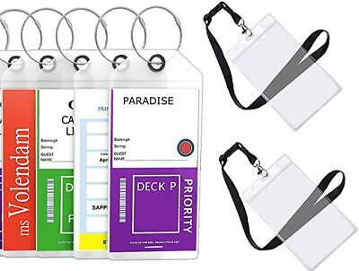 Highwind Cruise Luggage Tags Etag Holders Zip Seal & Steel Loops Thick PVC