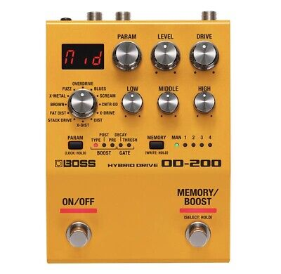 BOSS OD-200 Hybrid Drive NEW GUITAR EFFECTS PEDAL