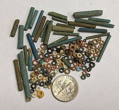 More than a Hundred 2500 Year old Ancient Egyptian Faience Mummy Beads (#L984)