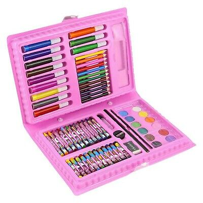 68 Pcs Art Set Childrens / Kids Colouring Drawing Painting Arts & Crafts Case