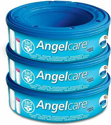 3 x Angelcare Nappy Disposal System Refill Cassettes Wrappers Bags Sacks Pack