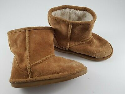 Tu size 7 (24) infant tan brown suede fur lined ankle boots
