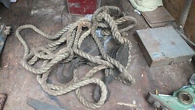 A set of rope blocks