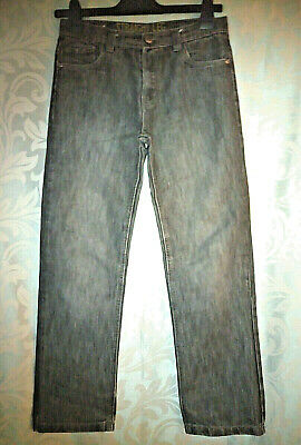 Denim co black jeans straight leg 12-13 years