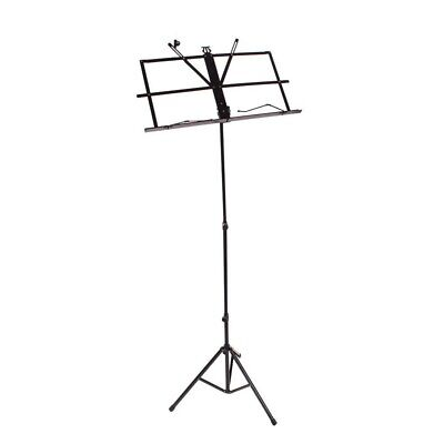 Glarry Portable Adjustable Music Stand Holder Folding Foldable  With Carry Bag