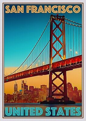 Art Deco Travel Posters Lovely  Retro Holiday San Francisco United States