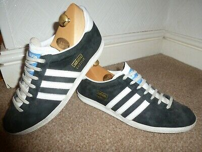 Mens Uk 7 Adidas Gazelle Og Black Suede 80'S Casuals Terrace Trainers Sneakers
