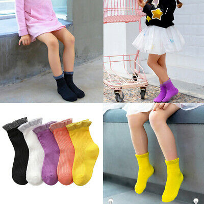 5 Pairs Baby Candy Color Shiny Silver Edge Socks Comfortable Soft Child Socks