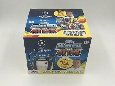 Match Attax Champions League 2017/18 Trading Cards FULL BOX (50 Packs)