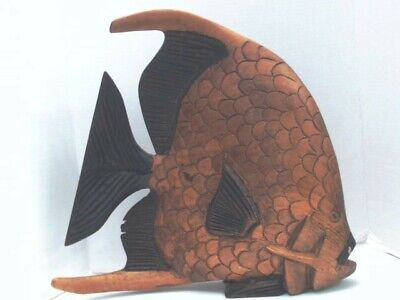 Vintage Hand Carved Wooden Fish