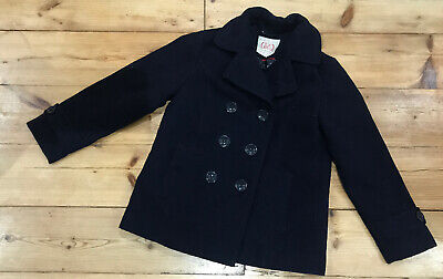 Marks&Spencers girls winter coat button double breast wool style jacket 7-8 128
