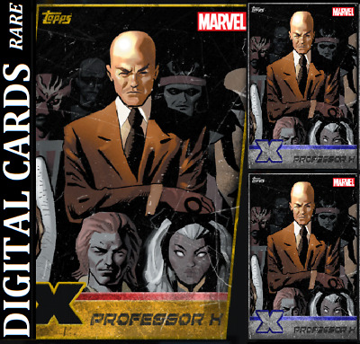 Topps Marvel Collect Card Trader X-Men Week 19 Professor X Gold Die Cut+2 Silver