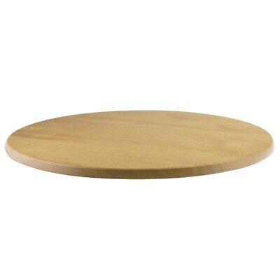 Werzalit Pre-drilled Round Table Top Oak Effect 600mm [CC515]