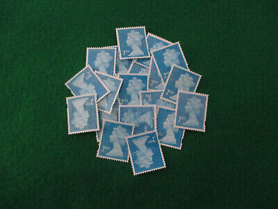 20 2nd Class Unfranked Blue Security Stamps Off Paper Good Condition £5.99
