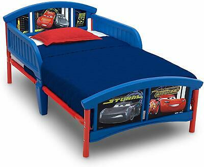 Disney Pixar Cars Lightning McQueen Plastic Toddler Kids Bed Junior Cot *NEW*