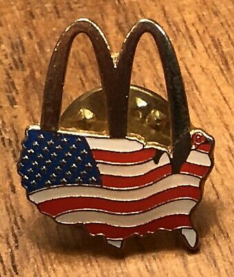 McDonalds Arches over American Flag Hat//Lapel Pin New