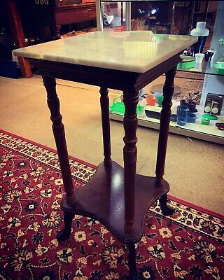 Vintage 1920's Marble Top Side Table - **Beautiful Condition**