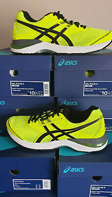 ASICS GEL PULSE 9 Mens Running Trainers Shoes Safety Yellow