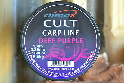 Climax Cult High End Karpfenschnur  Extreme  Carp Line  Deep Purple 0,024€//m