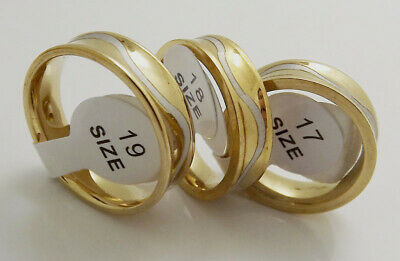 For sale 36 pcs Gold bottom wavy white pattern Fashion ring Stainless Steel RING