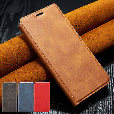 For iPhone 11 Pro Max 8 Plus 7 6s XS XR Cover Magnetic Leather Flip Wallet Case
