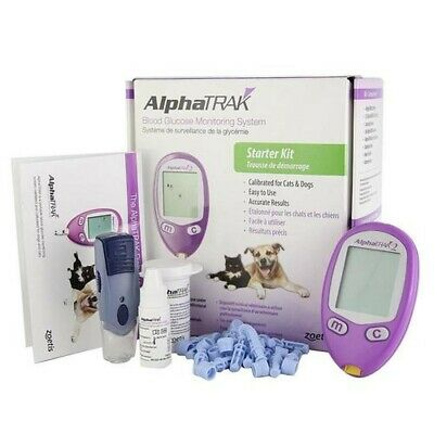 AlphaTRAK Diabetes Blood Glucose Starter Kit for Dogs and Cats