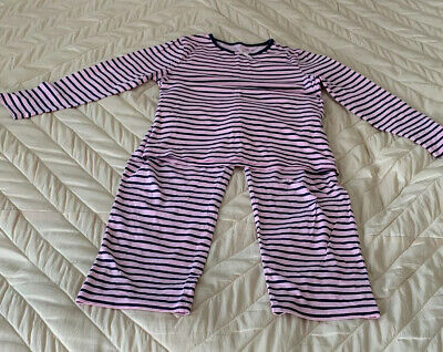 Girls Pyjama Set By George Asda Pink Navy Stripe Age 8-9yrs
