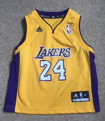 Kids Childs Baby Boys Toddler Infant Adidas NBA La Lakers Basket Ball Vest 3T