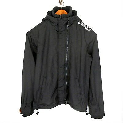 SUPERDRY | BLACK Windcheater Hooded Zipped Casual Jacket