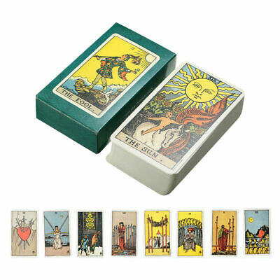 Tarot Cards Deck Vintage Antique 78 Cards High Quality Box Game Colorful T9A3G