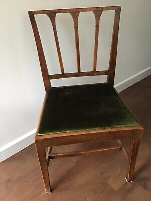 Arts & Crafts Style Spindle Back, Hall / Bedroom Chair With A Lift Off Seat
