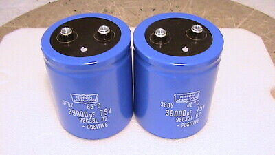 39000uf 75V capacitors Mcintosh 2100 2250 2255 Accuphase P-300