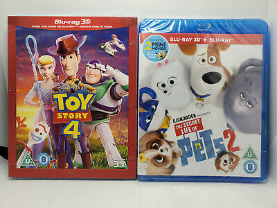 Toy Story 4 3D (Region-Free Blu-ray+Slip Cover) Secret Life Of Pets 2 3D+Blu-ray