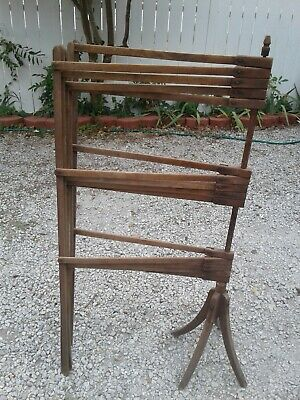 Antique Victorian Bent Wood Wall Towel Clothing Hanging Rack