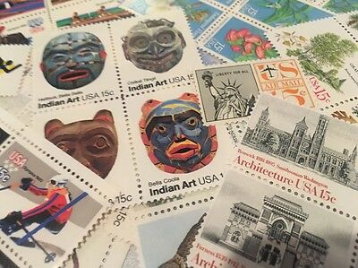 20 MNH  All Different Vintage 15 cent stamps