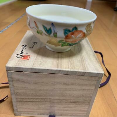 Japanese Traditional Craft Tea Caddy Ceremony Cup Morning glory from JAPAN